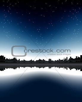 Urban skyline night