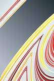 Lined art abstract with empty stripe