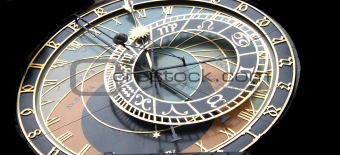 Prague clock detail