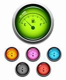 Gas gauge button icon