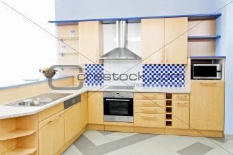 Blue kitchen horizontal