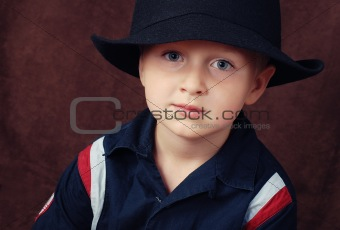 Portrait of cool boy