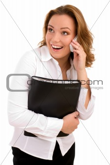 Business woman on the phone call