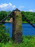 Stone protection on coast.