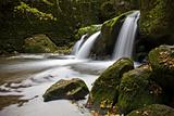 Shallow waterfall in fall