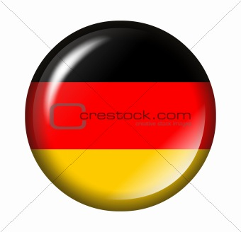 German flag button with 3d effect