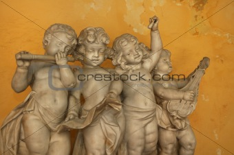 Little angels playing music