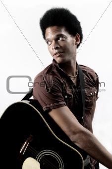 Trendy african guitarist