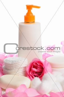 Skin care products isolated
