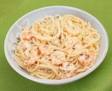 shrimp Spaghetti in Pesto Sauce