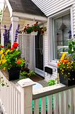House porch with flower boxes