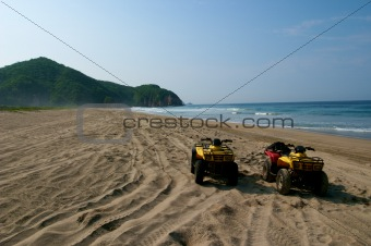 ATVs on Beach