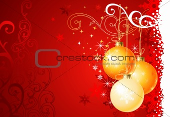 Christmas background /  balls and ornament / vector