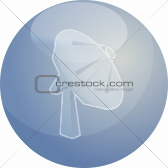 Satellite dish telecommunications illustration