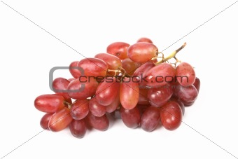 Bunch of red grapes isolated