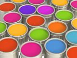 Multi-coloured paints