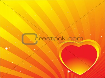 abstract background with heart and stars, illustration