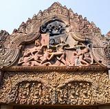 Banteay Srey temple sculptures, Angkor, Cambodia