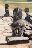 Terrace of Leper King sculptures, Angkor Thom, Cambodia