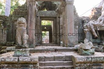 Preah Khan Temple gate, Angkor, Cambodia