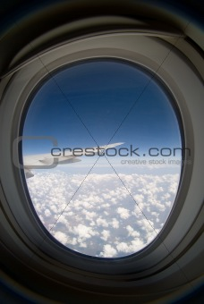 Aircraft illuminator window view