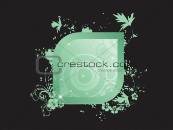 abstract floral  frames series_27