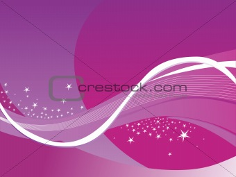 abstract wavy background with stars purple