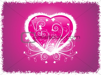 grunge frame heart with purple background, wallpaper