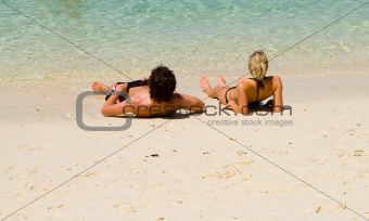 couple at the sand