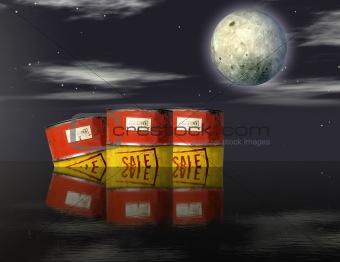 Oil barrels adrift