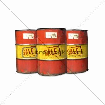 Old oil Barrel
