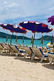 sun umbrellas at the Patong beach