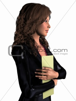3D office woman 1