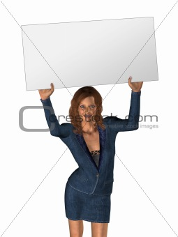 3D woman and board 1