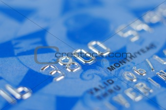 Fragment Of Bank Card