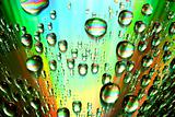 multicolored waterdrops