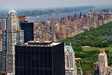 Skyscrapers, Buildings, Central Park, Hudson River, New York Cit