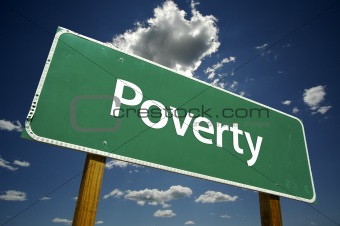 Poverty Road Sign