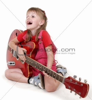 little girl and guitar