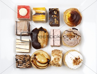 Assortment of delicious cakes
