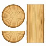 vector wood material parts