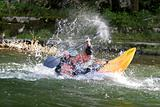 dynamic white water kayak action