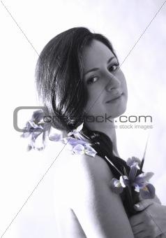 Portrait with iris