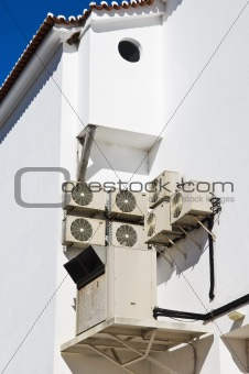 Air conditioner units in the wall