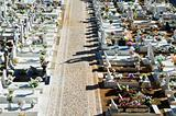 Catholic cemetery in Alentejo, Portugal