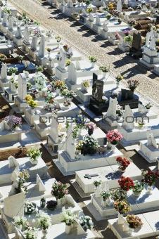 Catholic cemetery in Alentejo, Portugal
