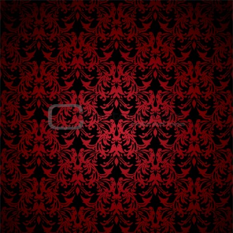 floral gothic red