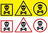 Danger label with skull symbol.