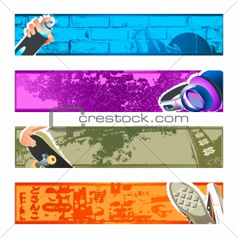 Urban banner backgrounds set