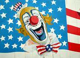 Uncle Sam on American Flag